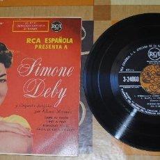 Discos de vinilo: SINGLE SIMONE DEBY, RCA ESPAÑOLA. Lote 100752971