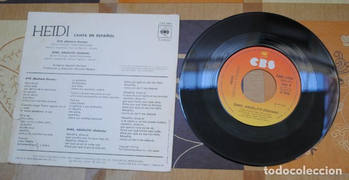 Discos de vinilo: Single, HEIDI, canta en Español - Foto 2 - 100753571