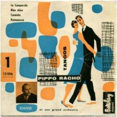Discos de vinilo: PIPPO RACHO ET SON GRAND ORCHESTRE #1 TANGOS - EP FRANCE - BARCLAY 13006. Lote 100761263