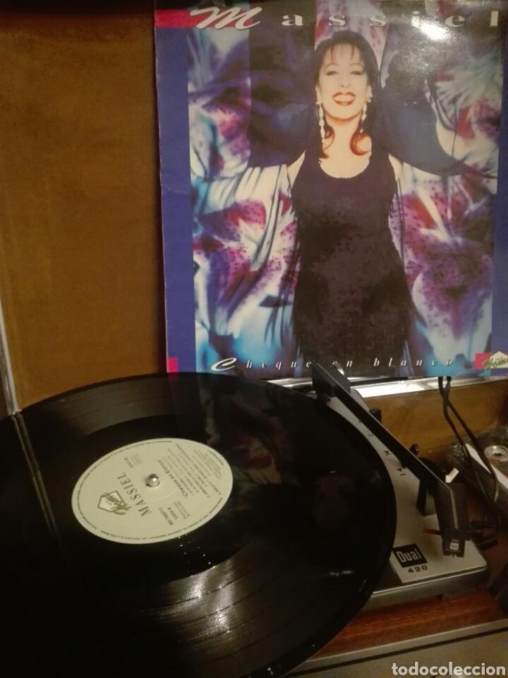 DISCO VINILO LP MASSIEL CHEQUE EN BLANCO (Música - Discos - LP Vinilo - Solistas Españoles de los 70 a la actualidad)
