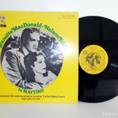 Discos de vinilo: JEANETTE MACDONALD - NELSON EDDY - IN MAYTIME - LP - VG++/VG+. Lote 100922595
