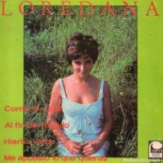 Discos de vinilo: LOREDANA, EP, COMO SI NADA (COME SE NIENTE FOSSE) + 3, AÑO 1967. Lote 100998331