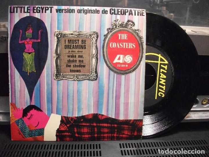 THE COASTERS LITTLE EGYPT VER ORIGINALE CLEOPATRE EP FRANCE ATLANTIC (Música - Discos de Vinilo - EPs - Bandas Sonoras y Actores)