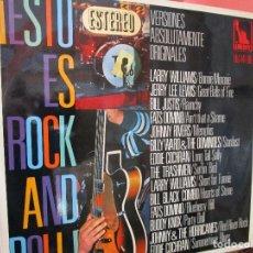Discos de vinilo: ESTO ES ROCK AND ROLL LP 1968 EDDIE COCHRAN - LARRY WILLIAMS - JERRY LEE LEWIS - FATS DOMINO -. Lote 101004115
