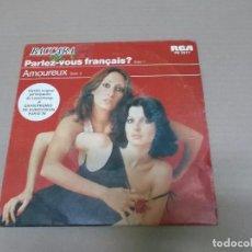 Discos de vinilo: BACCARA (SN) PARLEZ-VOUS FRANCAIS? AÑO 1978. Lote 110135615