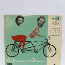 Discos de vinilo: EP ** HERMANAS ETIENNE ** EL PASOVUELTO ** COVER / EXCELLENT (EX) ** EP / EXCELLENT (EX) 1958. Lote 101005427