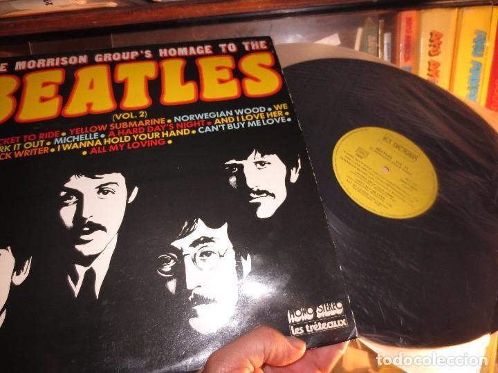 Discos de vinilo: LP RARO DISCO ANTIGUO THE MORRISON GROUPS HOMAGE TO THE BEATLES IMPECABLE - Foto 2 - 101005599