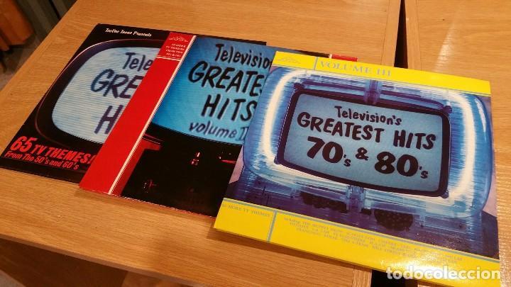 COLECCIÓN TELEVISION'S GREATEST HITS. 3 VOLÚMENES DOBLES. (Música - Discos - LP Vinilo - Bandas Sonoras y Música de Actores )