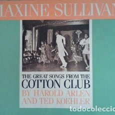 Discos de vinilo: MAXINE SULLIVAN & THE KEITH INGHAM QUINTET: THE GREAT SONGS FROM THE COTTON CLUB. (MILAN RDS. 1984). Lote 101006003