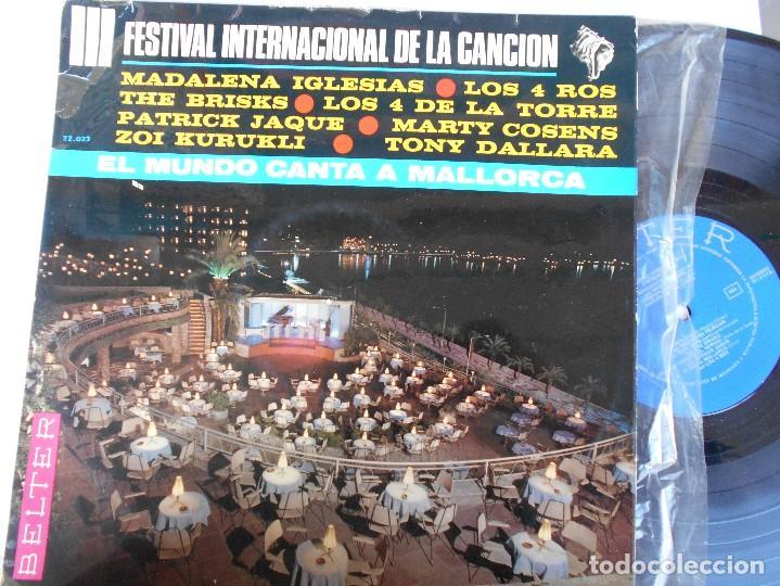 III FESTIVAL INTERNACIONAL DE LA CANCION-LP EL MUNDO CANTA A MALLORCA-VARIOS 1966 (Música - Discos - LP Vinilo - Otros Festivales de la Canción)