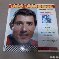 Discos de vinil: UDO JURGENS (EP) MERCI CHERIE AÑO 1966. Lote 101011943