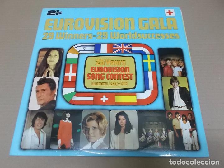 EUROVISION GALA (LP) 25 YEARS EUROVISION SONG CONTEST WINNERS 1956-1981 AÑO 1981 – DOBLE DISCO CON P (Música - Discos - LP Vinilo - Festival de Eurovisión)