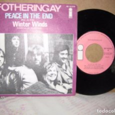 Discos de vinilo: FOTHERINGAY 45 SANDY DENNY FAIRPORT CONVENTION PEACE IN THE END + WINTER WINDS. ISLAND 1971. Lote 101015779