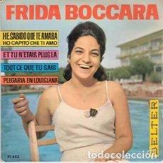 Discos de vinilo: FRIDA BOCCARA - TOUT CE QUE TU SAIS + 3 - EP BELTER 1964 . Lote 101055463