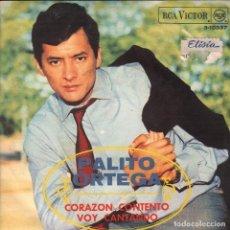 Discos de vinilo: PALITO ORTEGA / CORAZON CONTENTO / VOY CANTANDO / SINGLE RCA DE 1968 RF-3225, BUEN ESTADO. Lote 101056051