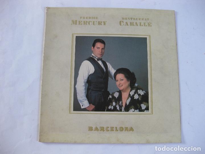 FREDDIE MERCURY - MONTSERRAT CABALLE - BARCELONA - SE VENDE SOLO LA PORTADA ( SIN DISCO DENTRO) (Música - Discos - LP Vinilo - Otros estilos)