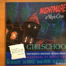 Discos de vinilo: GIRLSCHOOL: NIGHTMARE AT MAPLE CROSS. Lote 101083936