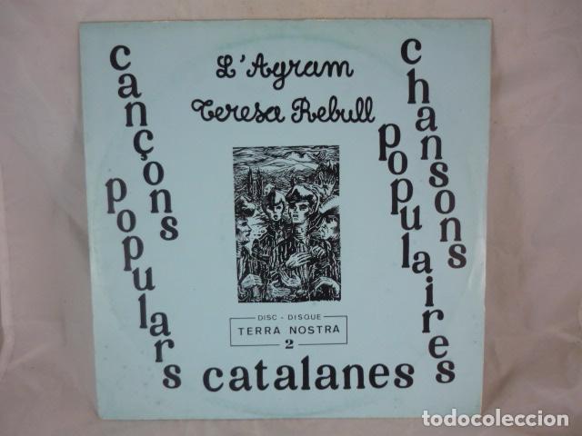 L'AGRAM I TERESA REBULL - CANÇONS POPULARS CATALANES - TERRA NOSTRA 2 - LP FRANCIA CAT.NORD. (Música - Discos de Vinilo - Maxi Singles - Country y Folk)