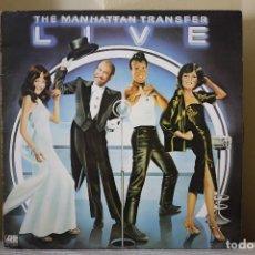 Discos de vinilo: THE MANHATTAN TRANSFER - LIVE. Lote 101100207