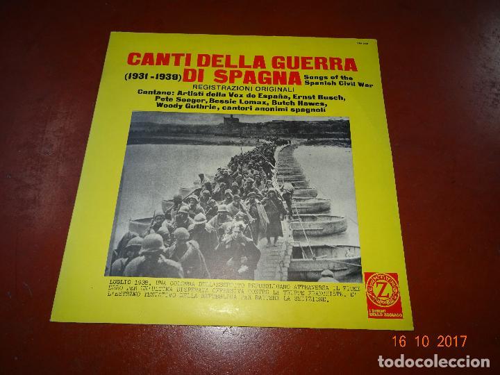 CANTI DELLA GUERRA DI SPAGNA - SONGS OF THE SPANISH CIVIL WAR - GUERRA CIVIL - ZODIACO 1968 (Música - Discos - LP Vinilo - Otros estilos)