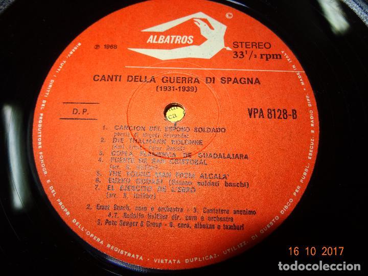 Discos de vinilo: Canti della Guerra di Spagna - Songs of the Spanish Civil War - Guerra Civil - Zodiaco 1968 - Foto 3 - 101103551