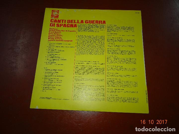 Discos de vinilo: Canti della Guerra di Spagna - Songs of the Spanish Civil War - Guerra Civil - Zodiaco 1968 - Foto 4 - 101103551
