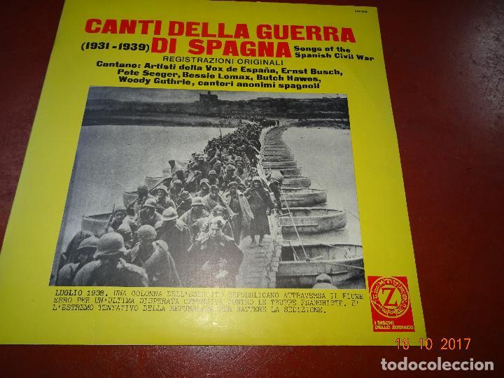 Discos de vinilo: Canti della Guerra di Spagna - Songs of the Spanish Civil War - Guerra Civil - Zodiaco 1968 - Foto 5 - 101103551
