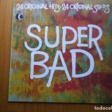 Discos de vinilo: LP 1971 SUPER BAD / 20 ORIGINAL HITS STARS ,BIEN VER ESTADO Y CANCIONES EN MAS FOTOS . Lote 101105371