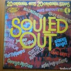 Discos de vinilo: LP 1974 SOULED OUT / 20 ORIGINAL HITS STARS, ,BIEN VER ESTADO Y CANCIONES EN MAS FOTOS . Lote 101105671