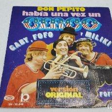 Discos de vinilo: SINGLE - GABY,FOFO Y MILIKI CON FOFITO - HABIA UNA VEZ UN CIRCO/DON PEPITO MOVIEPLAY SN 20 848 -1974. Lote 101110499