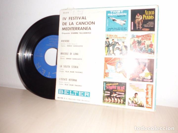 Discos de vinilo: IV FESTIVAL DEL MEDITERRANEO-ORQUESTA FALLABRINO- -BELTER- BARCELONA- AÑO 1962- - Foto 2 - 101126835