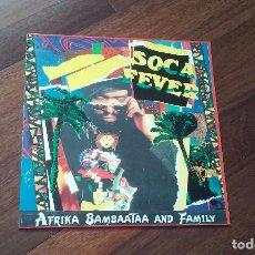 Discos de vinilo: AFRIKA BAMBAATAA AND FAMILY-SOCA FEVER.MAXI ESPAÑA. Lote 101128527