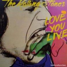 Discos de vinilo: THE ROLLING STONES- LOVE YOU LIVE- SPAIN 2 LP 1977- COMO NUEVO.. Lote 101128983