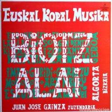 Discos de vinilo: LP - EUSKAL KORAL MUSICA - JUAN JOSE GAINZA. Lote 101131087