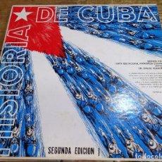 Discos de vinilo: HISTORIAS DE CUBA, 1965,EDITADO POR LA JUNTA EDUCACIONAL PATRIOTICA CUBANA, EN MIAMI, RARISIMO. Lote 101134215