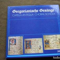 Discos de vinilo: GREGORIANISCHE GESÄNGE - CAPELLA ANTIQUA . CHORAL SCHOLA 4 LPS. Lote 101138975