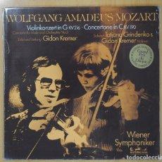Discos de vinilo: WOLFGANG AMADEUS MOZART - VIOLINKONZERT IN G KV 216 / CONCERTONE IN C KV 190 - LP. Lote 101151631
