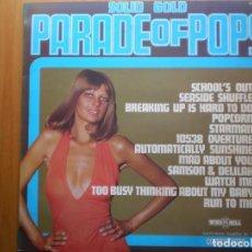 Discos de vinilo: LP 1970 SOLID GOLD PARADE OF POPS COSMOPOLITAN , BIEN ,VER ESTADO Y CANCIONES EN MAS FOTOS,. Lote 101165079
