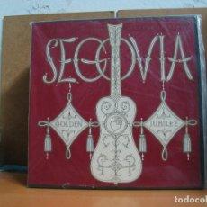 Discos de vinilo: ANDRES SEGOVIA - GOLDEN JUBILEE - DECCA – DXJ 148 - 1958 - EDICION USA - 3XLP BOX. Lote 101169267