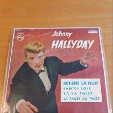 Discos de vinilo: EP ** JOHNNY HALLYDAY *RETIENS LA NUIT *COVER/ EXCELLENT (EX) *EP/ EXCELLENT/NEAR MINT (EX/NM)1962. Lote 101181383