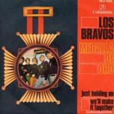 Discos de vinilo: BRAVOS, LOS, SG, JUST HOLDING ON + 1, AÑO 1968. Lote 101184179