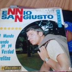 Discos de vinilo: E P (VINILO) DE ENNIO SANGIUSTO AÑOS 60. Lote 101199043