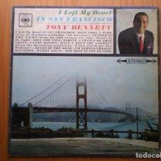 Discos de vinilo: LP 1962 TONY BENNETT / IN SAN FRANCISCO , BIEN ,VER ESTADO Y CANCIONES EN MAS FOTOS, . Lote 101223519
