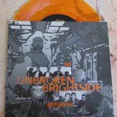 Discos de vinilo: UNBROKEN / BRIGHTSIDE – SPLIT - VINILO NARANJA - SINGLE 1995 - HARDCORE. Lote 101234203