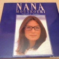 Discos de vinilo: NANA MOUSKOURI. CONCIERTO EN ARANJUEZ. PHILIPS 1989. 2 LP Y CARPETA DOBLE.. Lote 101243279
