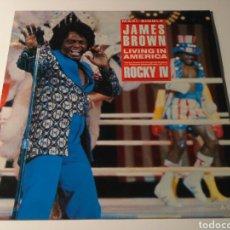 Discos de vinilo: JAMES BROWN - LIVING IN AMERICA (BSO DE LA PELÍCULA ROCKY IV). Lote 101255028