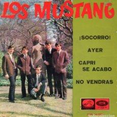 Discos de vinilo: MUSTANG, EP, ¡SOCORRO! (HELP - BEATLES) + 3, AÑO 1965. Lote 101268023