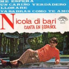 Discos de vinilo: NICOLA DI BARI CANTA EN ESPAÑOL EP-1966 - (ENVÍO MÁXIMO POR PAQUETE ES 10 €). Lote 101270711