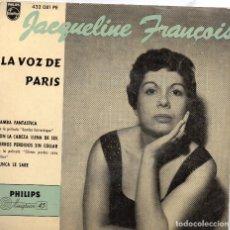 Discos de vinilo: JACQUELINE FRANCOIS EP MADE IN SPAIN- (ENVÍO MÁXIMO POR PAQUETE ES 10 €). Lote 101271271