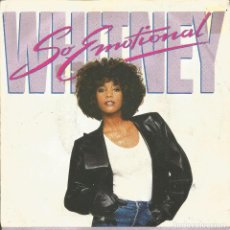 Discos de vinilo: WHITNEY HOUSTON-SO EMOTIONAL + FOR THE LOVE OF YOU SINGLE VINILO 1987 SPAIN. Lote 31756067